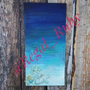 """Ocean Treasures"" Original Mixed Media Painting"